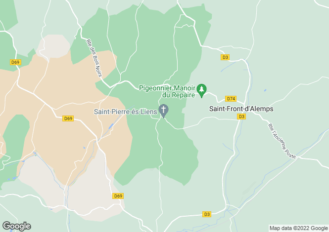 Map for Aquitaine, Dordogne, Daglan