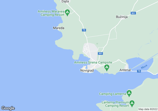 Map for Istria, Novigrad