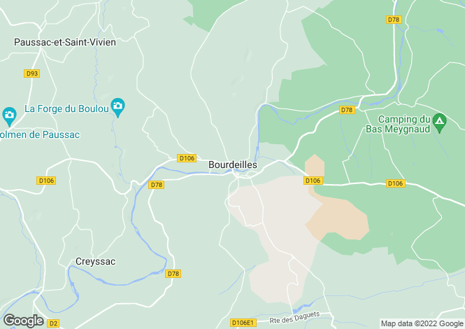 Map for Secteur: Bourdeilles, Dordogne