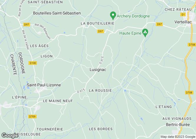 Map for Secteur: Lusignac, Dordogne