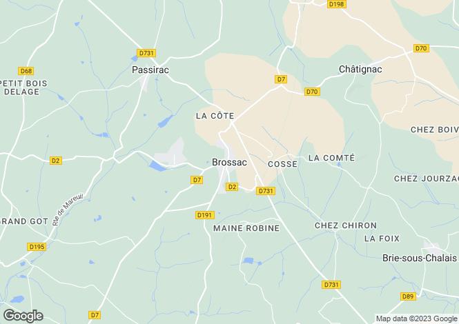 Map for Secteur: Brossac, Charente