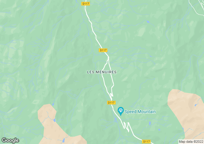 Map for Les Menuires - 3 Valleys - French Alps