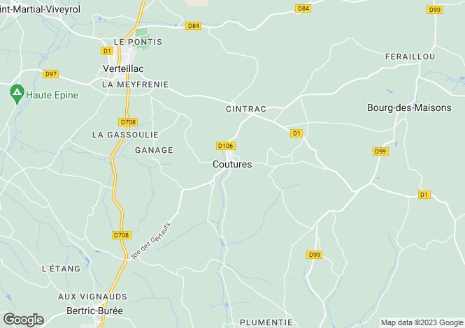 Map for Secteur: Coutures, Dordogne