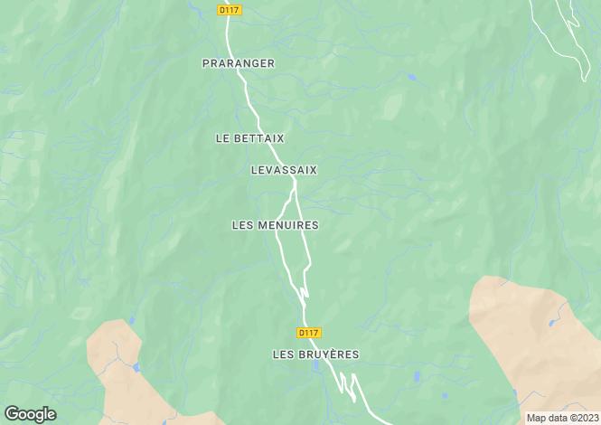 Map for Le Coeur des Loges PHASE 2, Les Menuires