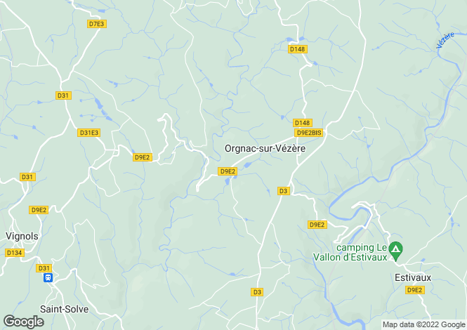 Map for orgnac-sur-vezere, Corrèze, France