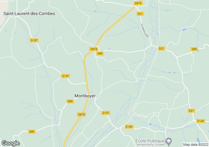 Map for montboyer, Charente, France