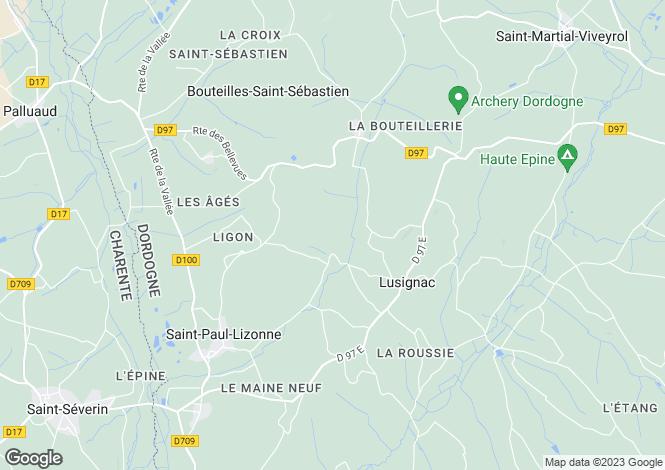 Map for Aquitaine, Dordogne, Bouteilles-St-Sébastien
