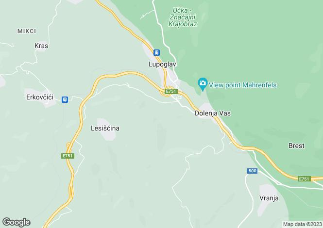 Map for Istria, Near Nature Park Of Ucka, Croatia