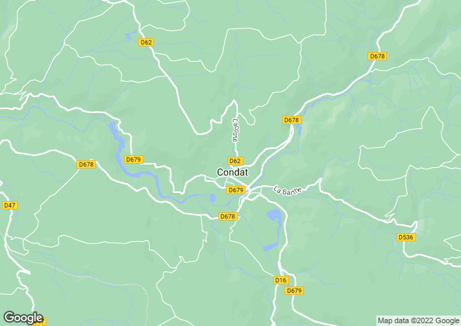 Map for condat, Cantal, France