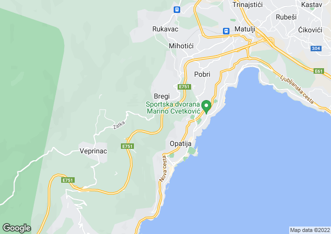 Map for Kvarner-Istria, Opatija,