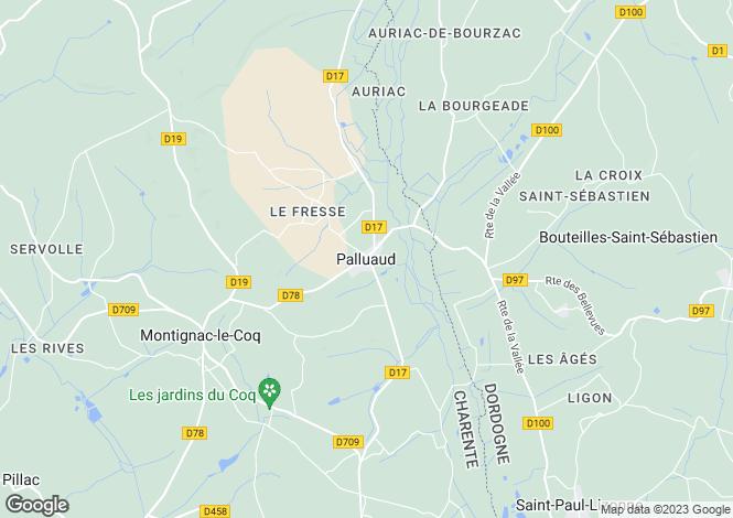Map for Secteur: Palluaud, Charente