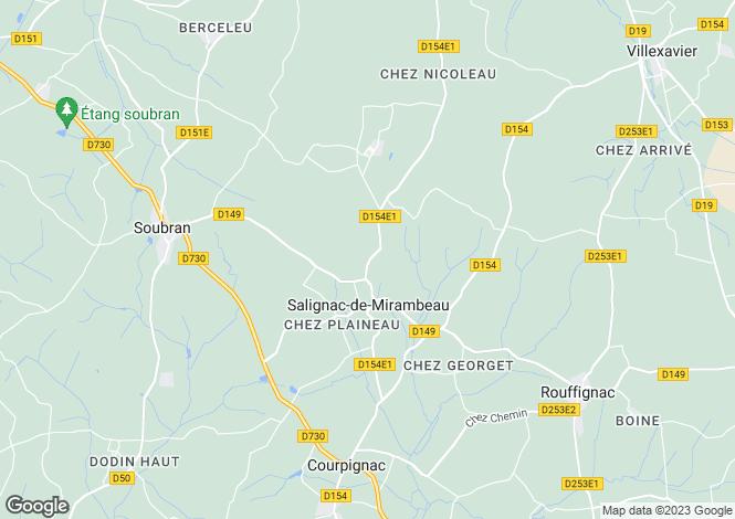 Map for Salignac-de-Mirambeau, Charente-Maritime, Poitou-Charentes