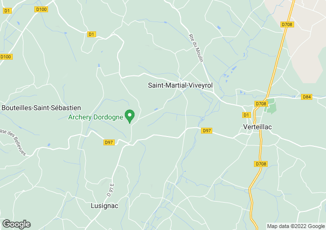 Map for near-verteillac, Dordogne, France