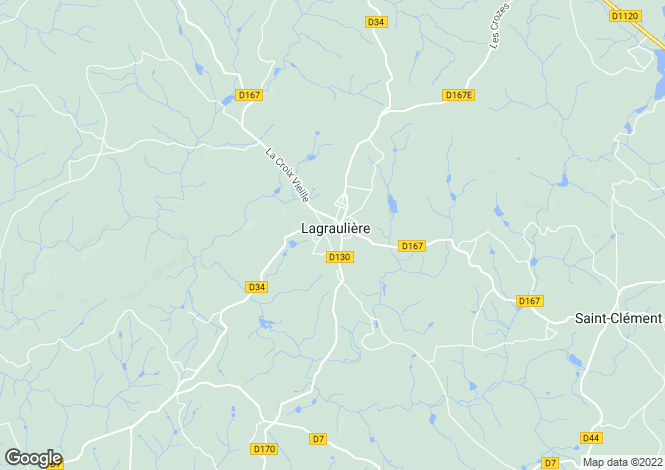 Map for Limousin, Corrèze, Lagraulière