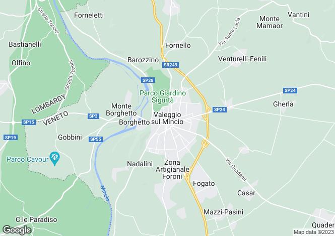 Map for Veneto, Verona, Valeggio Sul Mincio