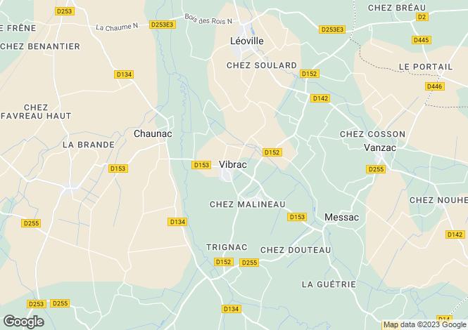 Map for vibrac, Charente-Maritime, France