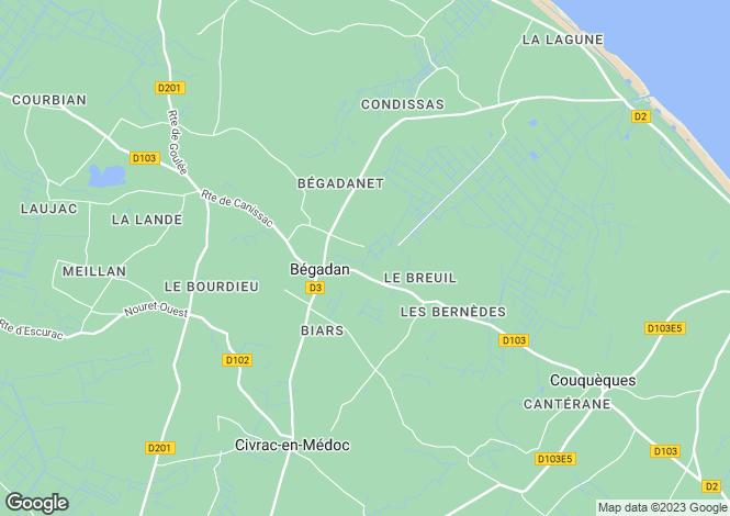 Map for Bégadan, 33340, France