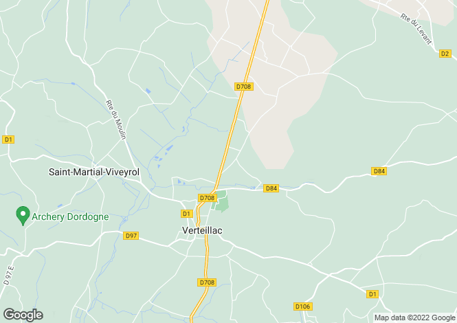Map for Verteillac, Dordogne, 24230, France