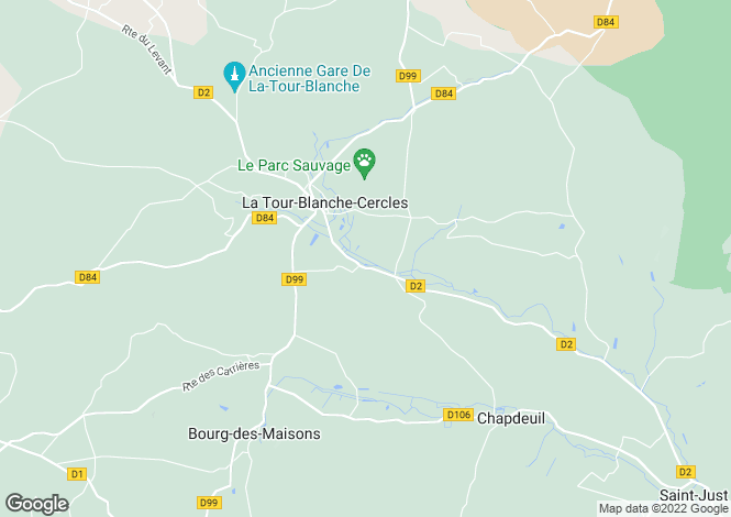 Map for Aquitaine, Dordogne, La Tour-Blanche