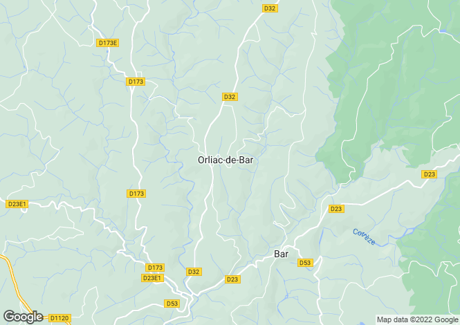 Map for ORLIAC DE BAR, 19390, France