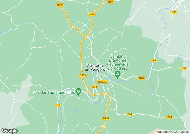 Map for Brantôme, Dordogne, 24310, France