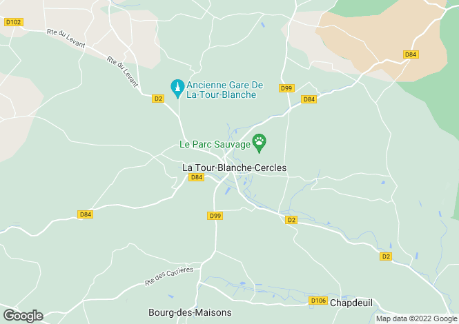 Map for Secteur: La Tour-Blanche, Dordogne