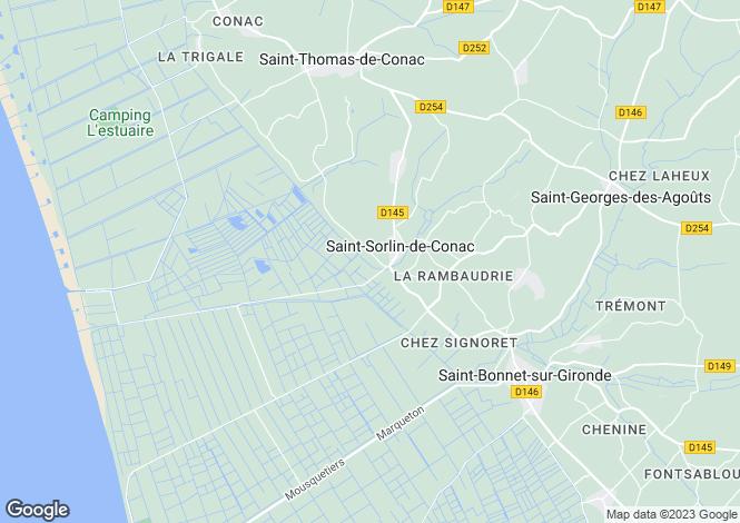 Map for Poitou-Charentes, Charente-Maritime, St-Sorlin-de-Conac