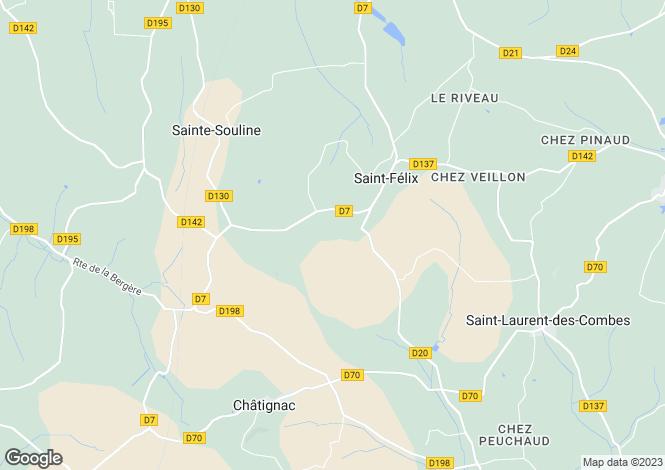 Map for st-felix, Charente, France