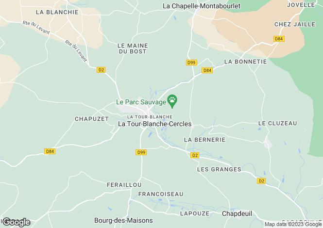 Map for Aquitaine, Dordogne, Cercles