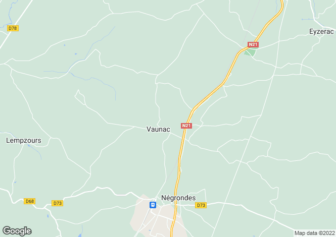 Map for vaunac, Dordogne, France