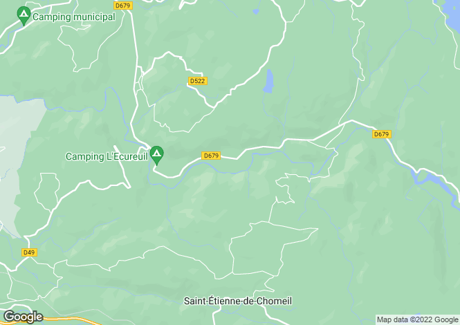 Map for st-etienne-de-chomeil, Cantal, France