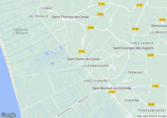 Map for Proche / Near Saint-Thomas-de-Conac, Charente-Maritime