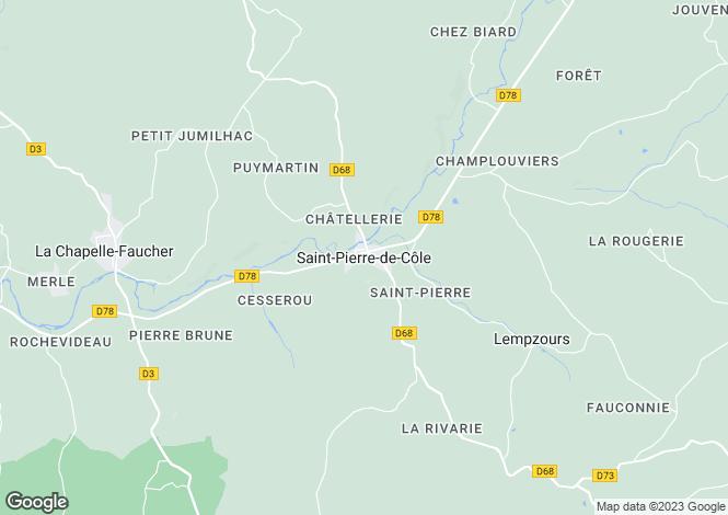 Map for Secteur: Saint-Pierre-de-Côle, Dordogne