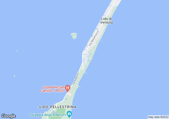 Map for Veneto, Venice, Lido