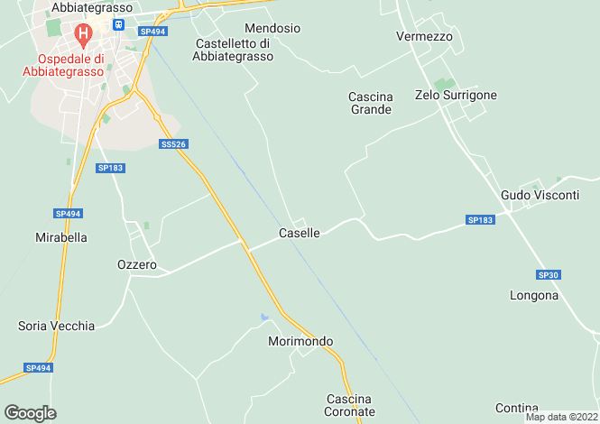Map for Lombardy, Milan, Morimondo