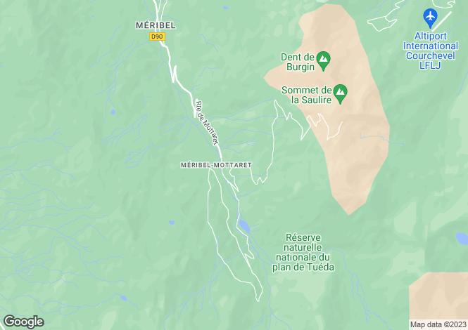 Map for Méribel, Savoie, Rhone Alps
