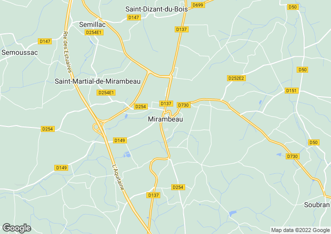 Map for Secteur: Mirambeau, Charente-Maritime
