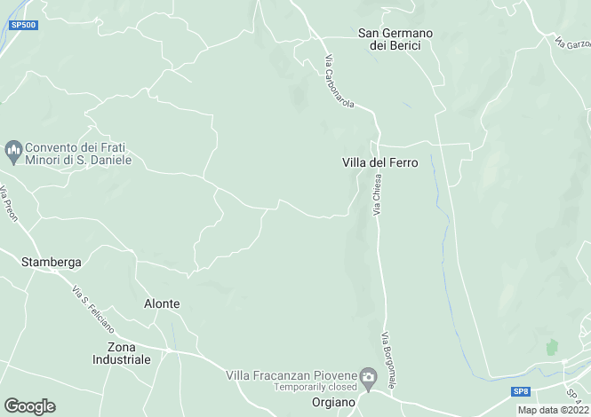 Map for San Germano dei Berici, Vicenza, Italy