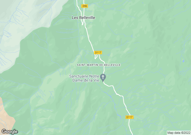 Map for St Martin de Belleville - Chalets du Nant du Four, Three Valleys