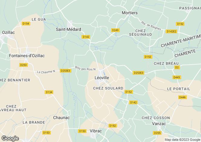 Map for leoville, Charente-Maritime, France