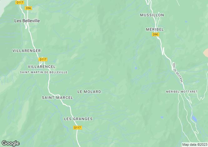 Map for Route Albert Gacon, Meribel, Meribel, France