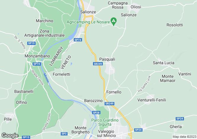 Map for Valeggio Sul Mincio, Verona, Veneto