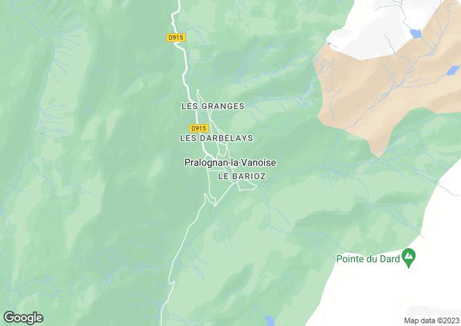 Map for Rhone Alps, Savoie, Pralognan-la-Vanoise