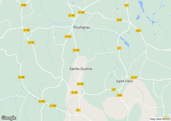 Map for Poitou-Charentes, Charente, Ste-Souline