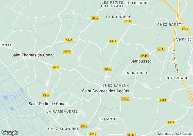 Map for Poitou-Charentes, Charente-Maritime, St-Georges-des-Agoûts