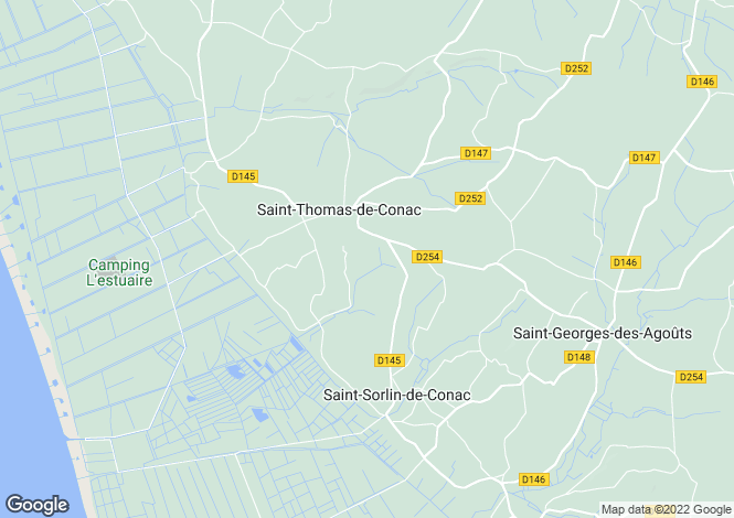Map for st-thomas-de-conac, Charente-Maritime, France