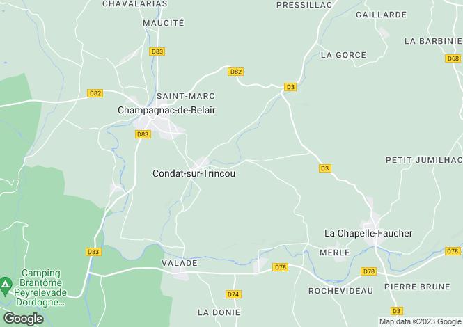 Map for condat-sur-trincou, Dordogne, France