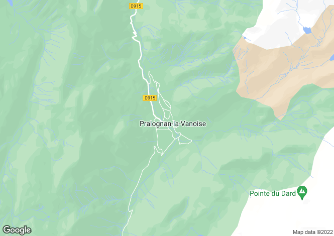 Map for pralognan-la-vanoise, Savoie, France