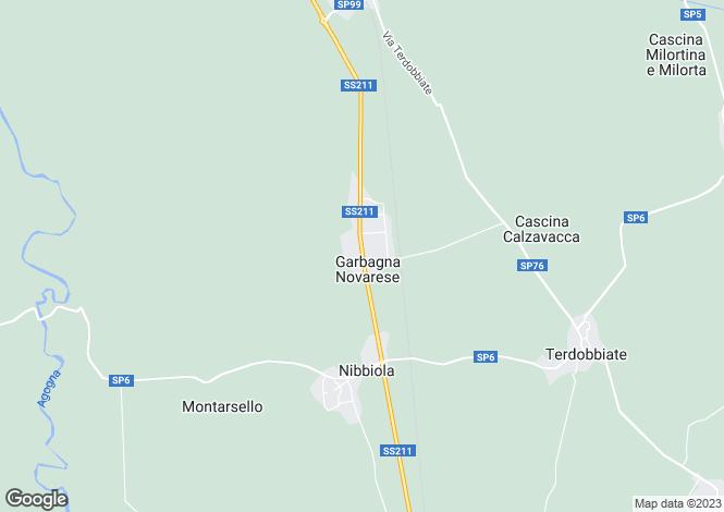 Map for Piedmont, Novara
