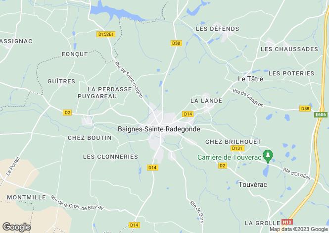 Map for Baignes-Ste-Radegonde, Charente, Poitou-Charentes